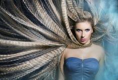 Beautiful Fashion Girl portrait.Makeup Royalty Free Stock Image