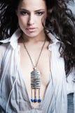 Beautiful fashion girl portrait studio shot Stock Photo