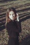 Beautiful fashion girl portrait viintage style  Royalty Free Stock Images