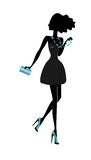 Beautiful fashion girl silhouette. Stock Photography