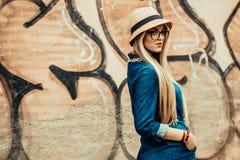 Beautiful fashion girl stock photography