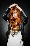 Beautiful fashion hairstyle model Stock Photography