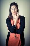 Beautiful fashion hipster girl Stock Photos