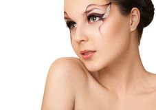 Beautiful Fashion Holiday Makeup Royalty Free Stock Photo