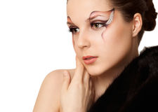 Beautiful Fashion Holiday Makeup Stock Photos
