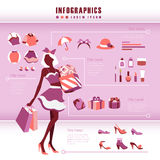 Beautiful fashion infographics Stock Photos