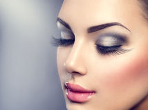 Beautiful fashion luxury makeup Stock Image