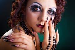 Beautiful Fashion Makeup Stock Photo