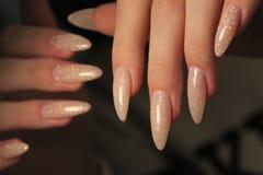 beautiful fashion manicure stock photo