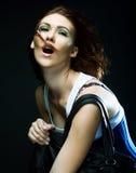 Beautiful fashion model royalty free stock image