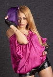 Beautiful fashion model. Image of an attractive blond model Stock Images