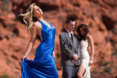 Beautiful fashion model Stock Images
