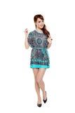 Beautiful fashion model asian girl in modern dress Royalty Free Stock Image