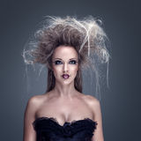 Beautiful fashion model with creative makeup Royalty Free Stock Photos