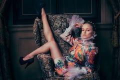 Beautiful fashion model Stock Image