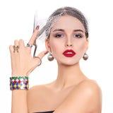 Beautiful and fashion model royalty free stock photos