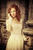 Red haired lady Stock Photography