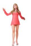 Beautiful fashion model in mini stock photos