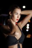 Beautiful fashion model at night Stock Image