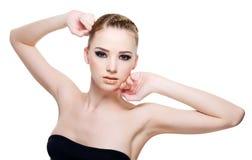Beautiful  fashion model posing Royalty Free Stock Image
