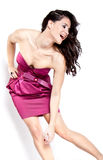 Beautiful fashion model posing. Isolated over a white background Stock Photo