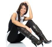 Beautiful fashion model posing Stock Photography
