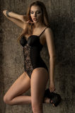 Beautiful Fashion model in sexy lingerie Royalty Free Stock Photography