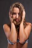 Beautiful fashion model in studio Stock Photos