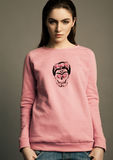 Beautiful fashion model wearing pink jumper scull Royalty Free Stock Photos