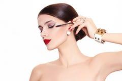 Beautiful and fashion model royalty free stock image