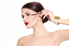 Beautiful and fashion model stock photos