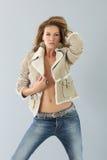 Beautiful fashion model of winter season. Beautiful fashion woman model, winter season Stock Photos