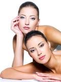 Beautiful fashion models royalty free stock photo