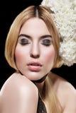 Beautiful fashion  portrait of woman Royalty Free Stock Photos