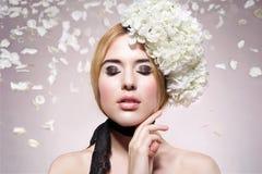 Beautiful fashion  portrait of woman Stock Images