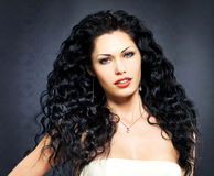 Beautiful fashion  woman with curly hairstyle Royalty Free Stock Images