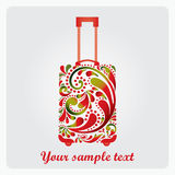 Beautiful fashion suitcase for travel. Stock Images