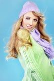 Beautiful fashion winter girl Stock Image