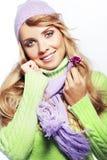 Beautiful fashion winter girl Royalty Free Stock Image