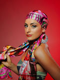 Beautiful fashion woman with bright make-up Royalty Free Stock Photo