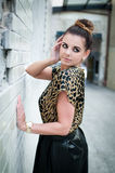 Beautiful fashion woman in the city Stock Image