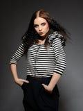 Beautiful fashion woman with creative make-up Stock Image
