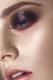 Beautiful fashion woman with creative makeup. beauty face. Close-up portrait Royalty Free Stock Images