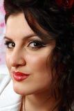 Beautiful Fashion Woman Face stock image