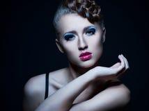 Beautiful Fashion Woman Face.Perfect Makeup Royalty Free Stock Photos