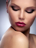 Beautiful Fashion Woman Face royalty free stock images