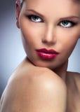 Beautiful Fashion Woman Face Royalty Free Stock Photography