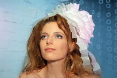 Beautiful Fashion Woman Face Red Hair Royalty Free Stock Image