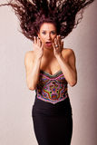 Beautiful fashion woman with facial expression Stock Image