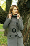 Beautiful fashion woman in fashionable coat Royalty Free Stock Photos